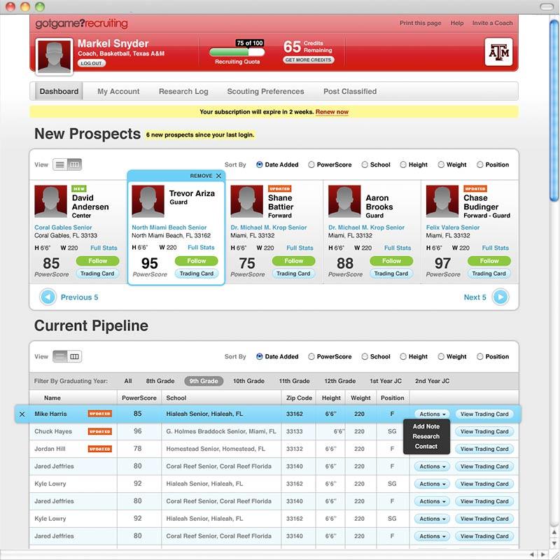 Web Application Design Ideas Web Application Design Sports App Alex Designs
